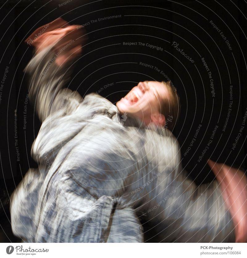 bewegungsschrei Bewegung Angst Arme Flügel schreien Panik Schock erschrecken