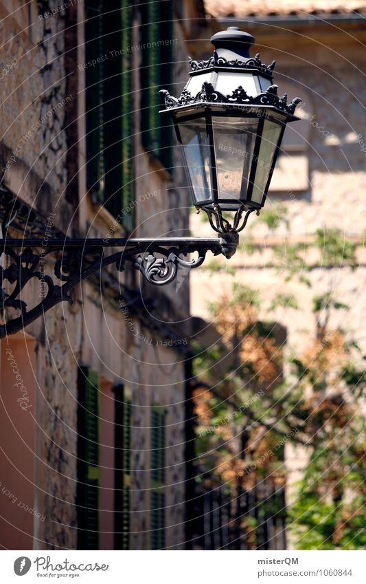 Nicht so ne Leuchte. Lampe Kunst ästhetisch Romantik Straßenbeleuchtung Laterne Gasse Lampion Kleinstadt