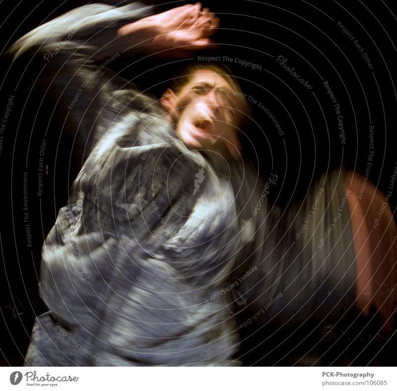 bewegungsfurcht Bewegung Angst Arme Flügel schreien Panik Schock erschrecken