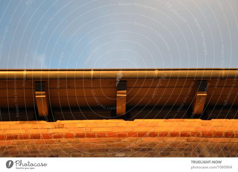 Dachbalkenziegelwanddenkmal Stadt Stadtrand Menschenleer Haus Fabrik Bauwerk Gebäude Architektur Mauer Wand Fassade Dachrinne Sehenswürdigkeit Denkmal alt