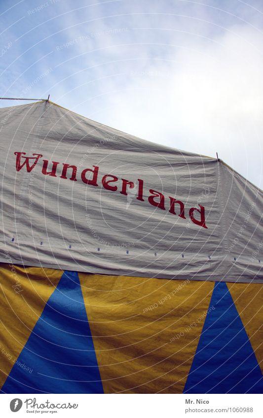 wunder gibt es immer wieder Freizeit & Hobby Ausflug Jahrmarkt Puppentheater Kultur Veranstaltung Show Himmel blau gelb weiß Freude Glück Fröhlichkeit