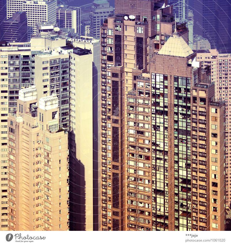 einöde. Hongkong China Asien Stadtzentrum bevölkert überbevölkert Haus Hochhaus Bauwerk Gebäude Architektur Mauer Wand Fassade Skyline Beton Wohnung