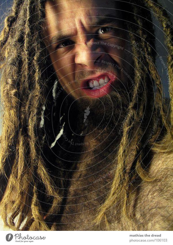 Mathias The Dread X Mensch Mann Gesicht Auge dunkel Gefühle Haare & Frisuren hell Kraft Angst Haut maskulin gefährlich Zähne bedrohlich Wut