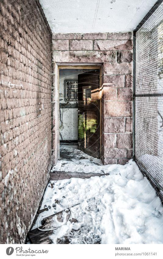 winter hike in the northern Black Forest on a sunny day ruhig Winter Haus Umwelt Architektur Mauer Wand Stein alt bedrohlich kalt kaputt grau schwarz weiß