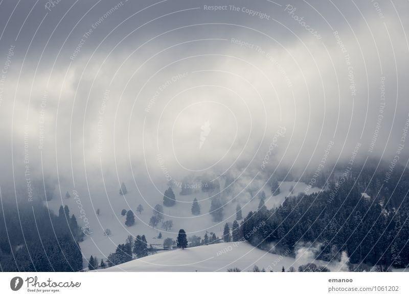 Winterwolkenland Himmel Natur Ferien & Urlaub & Reisen Pflanze Wasser Baum Landschaft Wolken Wald kalt Berge u. Gebirge Schnee Eis Tourismus Wetter