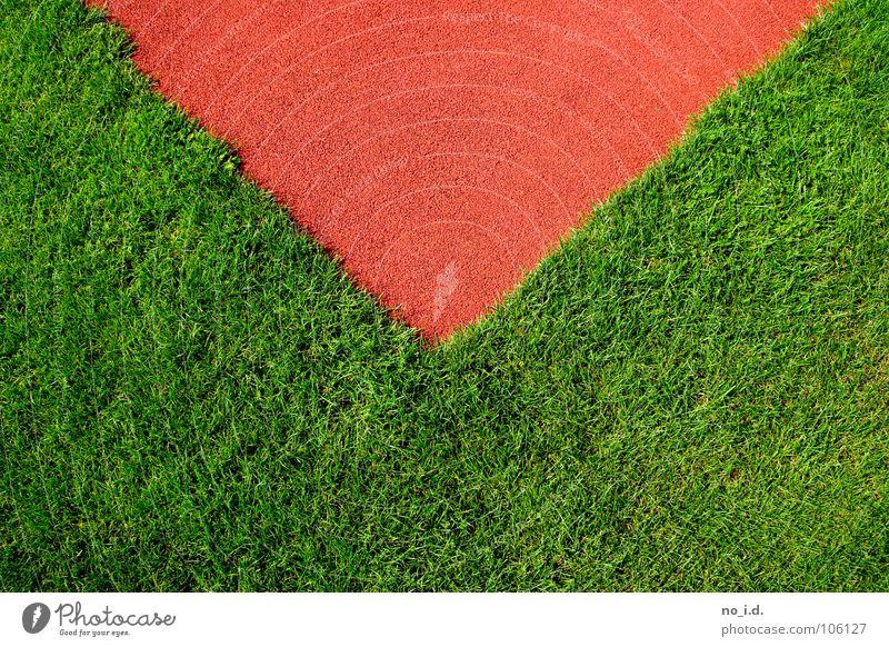 Tomorrow I will be a Curve grün Tartan rot Gras frisch Leichtathletik Dreieck Brief Post Verkehrswege Spielen Freizeit & Hobby Rasen orange Ist Mord