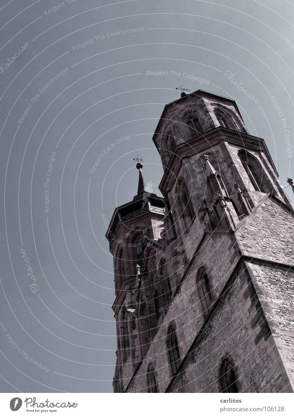 Pisa ist überall Religion & Glaube Kraft Architektur Deutschland Turm Wahrzeichen Gotik Gotteshäuser Franken Kirchturm Göttingen St. Johannis