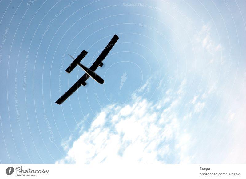 Jause´s Bird Himmel blau Wolken Spielen Freiheit Flugzeug Luftverkehr Modellflugzeug
