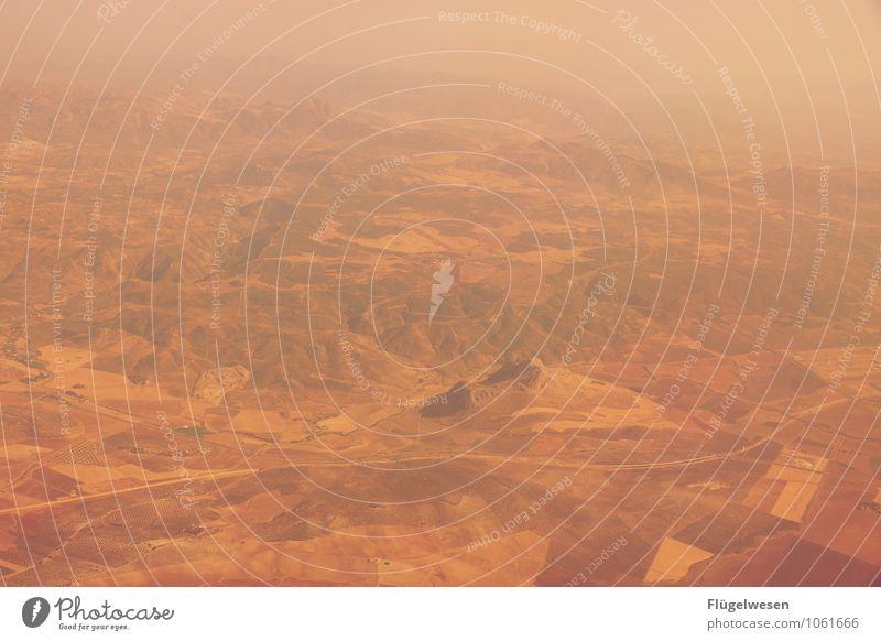 Fly Away 12 Vogelperspektive fliegen Luftverkehr Flugzeug Aussicht Blick Fluss Berge u. Gebirge Ferien & Urlaub & Reisen Wolken Feld Wüste Sand Wald