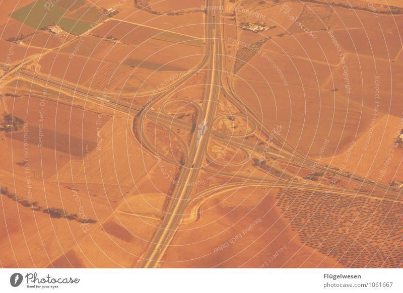 Fly Away 13 Vogelperspektive fliegen Luftverkehr Flugzeug Aussicht Blick Fluss Berge u. Gebirge Ferien & Urlaub & Reisen Wolken Feld Wüste Sand Wald Straße