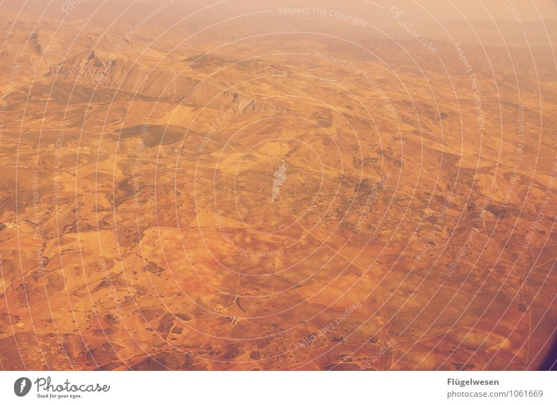 Fly Away 14 Vogelperspektive fliegen Luftverkehr Flugzeug Aussicht Blick Fluss Berge u. Gebirge Ferien & Urlaub & Reisen Wolken Feld Wüste Sand Wald