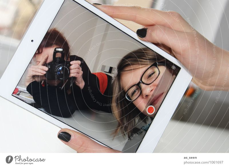 Multimedia Mensch Kind Jugendliche Freude 18-30 Jahre Erwachsene Leben feminin modern 13-18 Jahre Kindheit Perspektive Technik & Technologie Kreativität Zukunft Telekommunikation