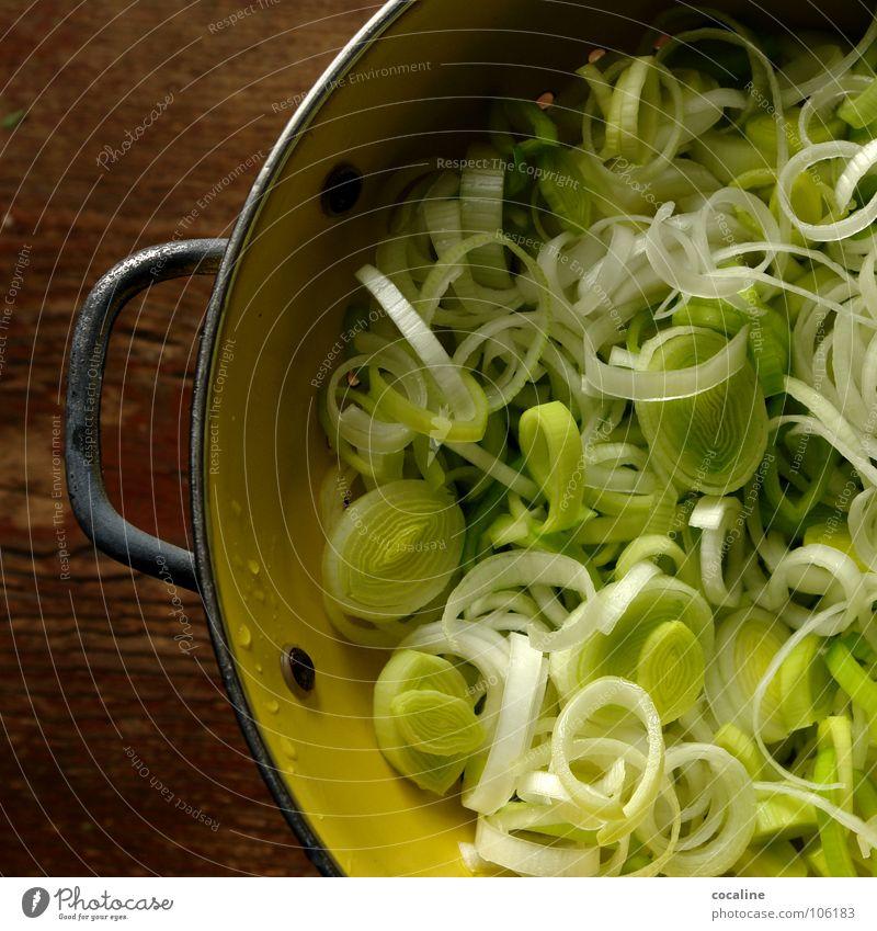 Das gesunde Grauen weiß grün Ernährung gelb Gesundheit Kochen & Garen & Backen Gemüse Speise Porree