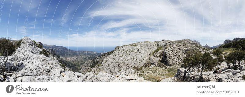 Wandertag. Himmel Natur Ferien & Urlaub & Reisen Einsamkeit Landschaft Ferne Berge u. Gebirge Umwelt ästhetisch Abenteuer Spanien Panorama (Bildformat) Fernweh Mallorca Rucksacktourismus Sommertag