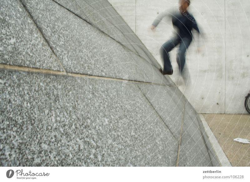 Steigung Jugendliche Freude Wand Spielen Freizeit & Hobby laufen verrückt Klettern rennen Schüler aufwärts Neigung Fuge Karriere aufsteigen steigen