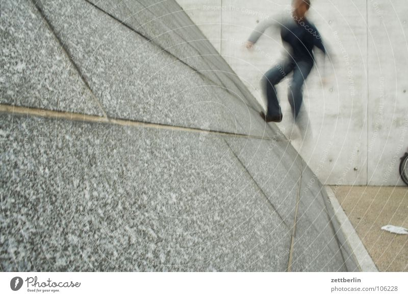 Steigung Jugendliche Freude Wand Spielen Freizeit & Hobby laufen verrückt Klettern rennen Schüler aufwärts Neigung Fuge Karriere aufsteigen