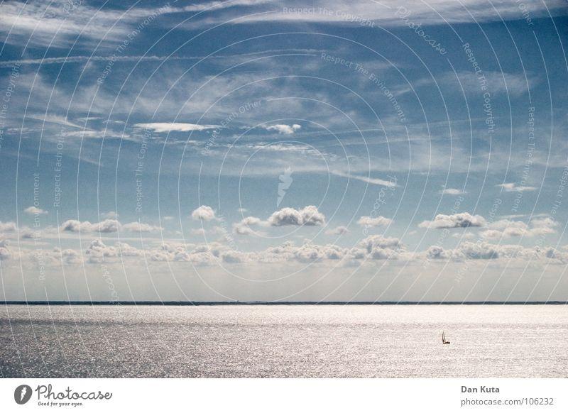 Geschenk des Himmels Wasser Meer blau Wolken kalt Freiheit Linie Wind Horizont mehrere offen Niveau weich viele Geister u. Gespenster