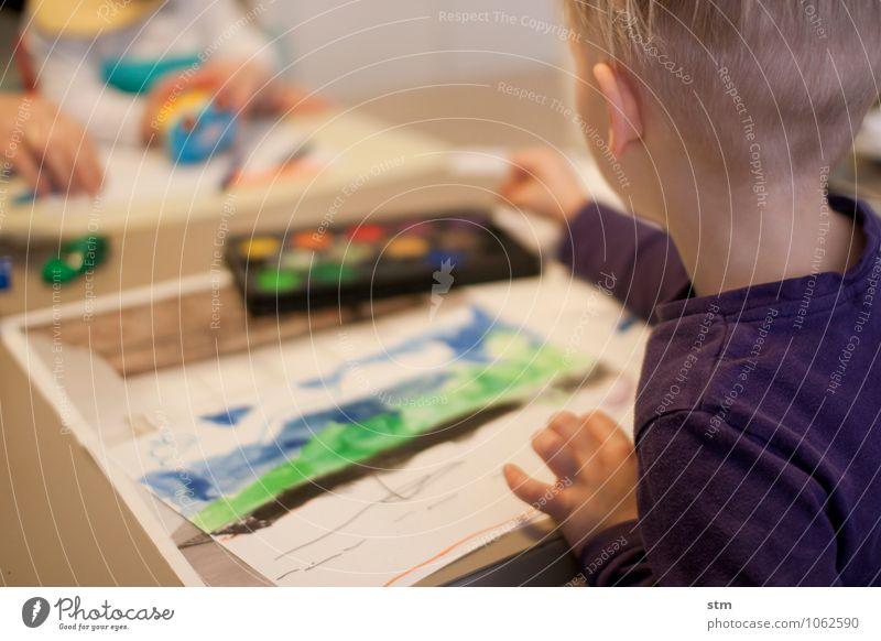 malen leicht gemacht Mensch Kind Leben Junge Spielen Kunst Familie & Verwandtschaft Freizeit & Hobby Kindheit Kreativität Kultur streichen Gemälde entdecken zeichnen Kleinkind