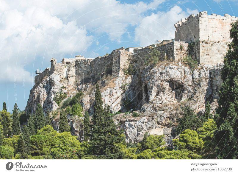 Parthenon in Athen. Neue, andere Perspektive Ferien & Urlaub & Reisen Tourismus Kultur Himmel Ruine Gebäude Architektur Denkmal Stein alt historisch blau