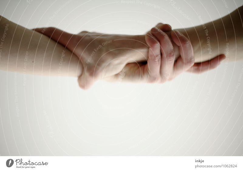 Old Shatterhand Mensch Hand Erwachsene Leben Gefühle Lifestyle Zusammensein Freundschaft Freizeit & Hobby Kraft Kommunizieren Hilfsbereitschaft Sicherheit festhalten Frieden Rettung