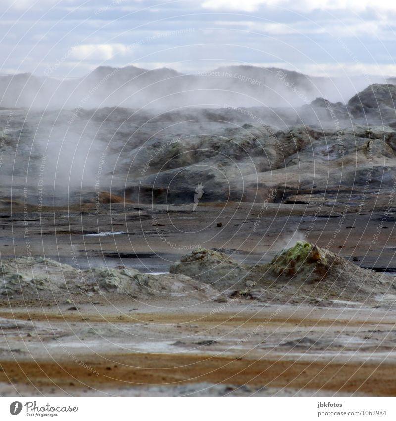 Dampf & Rauch Umwelt Natur Landschaft Pflanze Tier Urelemente Erde Sand Feuer Luft Wasser Unwetter Eis Frost Hügel Felsen Berge u. Gebirge Vulkan heiß Namafjall