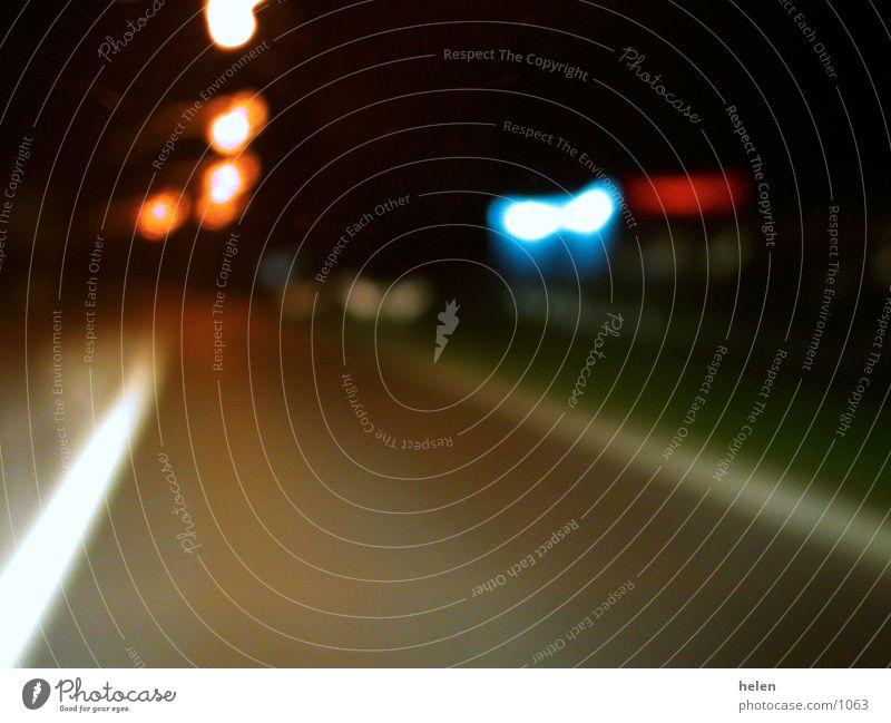 landstrasse Autofahren Nacht Fototechnik Licht