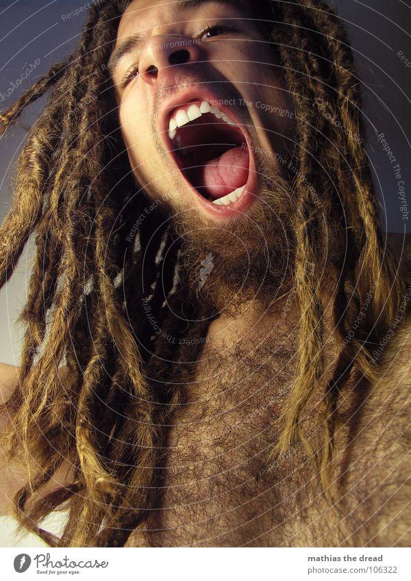 Mathias The Dread XII Mensch Mann Gesicht Auge dunkel Gefühle Haare & Frisuren Mund hell Kraft Angst Haut maskulin gefährlich Zähne offen