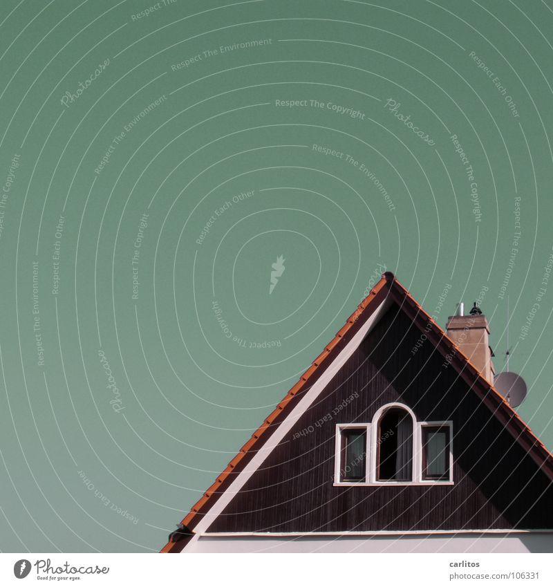 Noch schöner wohnen Sommer Fenster Architektur Aussicht Dach Häusliches Leben Schornstein Antenne überblicken Freiraum Dachgeschoss Dachfirst