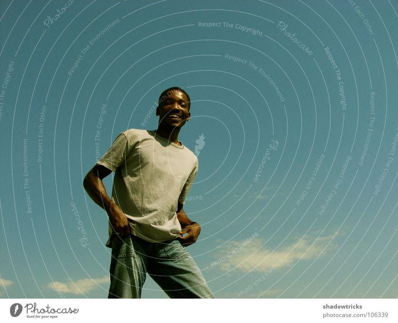 Another New Day Mensch Himmel blau Freude lachen Europa Freundlichkeit Asien Afrika Typ Australien Kerl