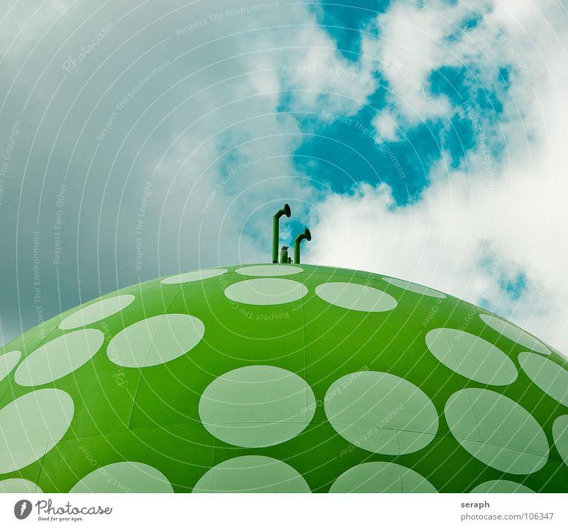 Gastank Industrie Versorgung Kugel Bauwerk Speicher flüssiggas Energie Energiewirtschaft Energie sparen Energiekrise Architektur Konstruktion Gasleitung