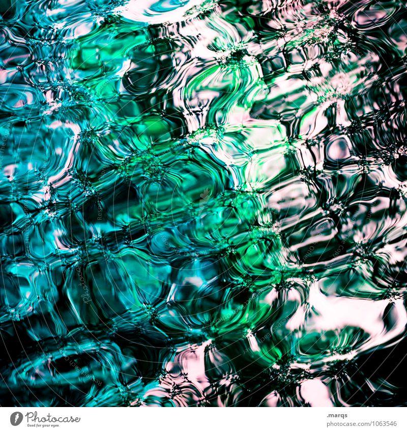 Liquid blau grün Farbe weiß Wasser schwarz kalt außergewöhnlich nass Flüssigkeit Surrealismus