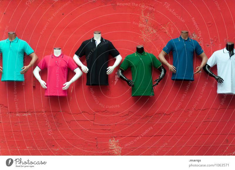 Kopflos Wand Mauer außergewöhnlich Mode Lifestyle Dekoration & Verzierung Bekleidung kaufen T-Shirt trendy Handel skurril Vielfältig kopflos Schaufensterpuppe