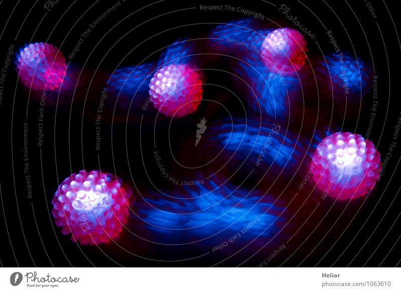 Neon rubber ball I blau Farbe rot Freude schwarz Bewegung Spielen außergewöhnlich rosa träumen leuchten Fröhlichkeit verrückt Geschwindigkeit rund Ball