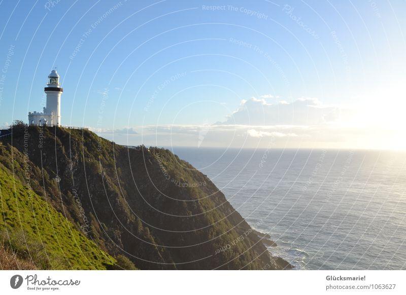 Lighthouse Byron Bay Himmel Natur Ferien & Urlaub & Reisen Sommer Wasser Erholung Meer Landschaft ruhig Wolken Ferne Leben Gras Küste Glück Freiheit