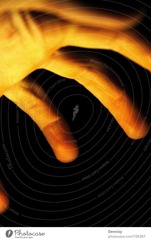 Hand und/oder Licht ? Hand schwarz Finger Dinge Nagel
