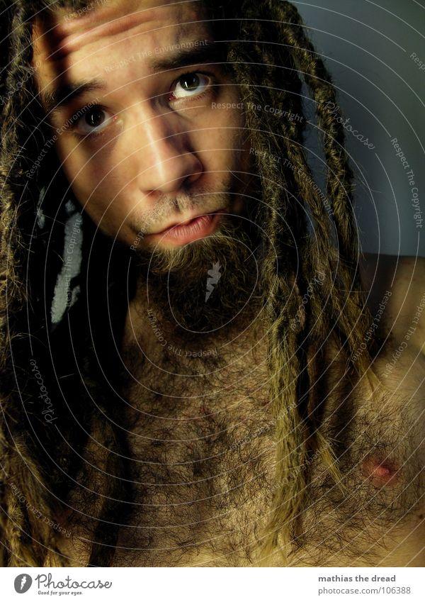 Mathias The Dread XIII Mensch Mann Gesicht Auge dunkel Gefühle Haare & Frisuren Traurigkeit Mund hell Kraft Angst Haut maskulin Trauer bedrohlich