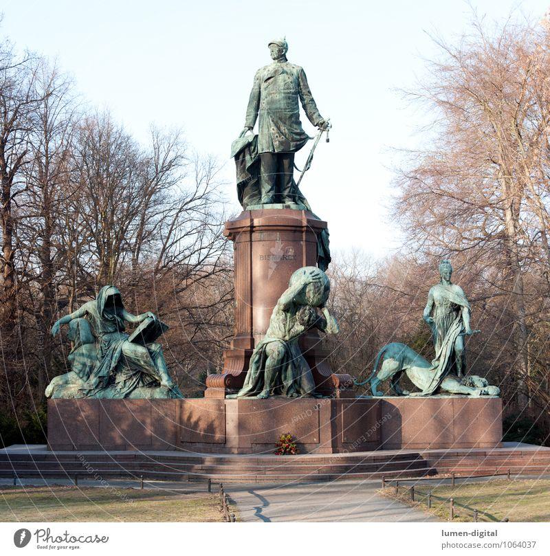 Bismarckdenkmal am Großen Stern Berlin alt blau grün Berlin grau braun Kunst Deutschland rosa ästhetisch groß historisch Mut Denkmal Wahrzeichen Statue