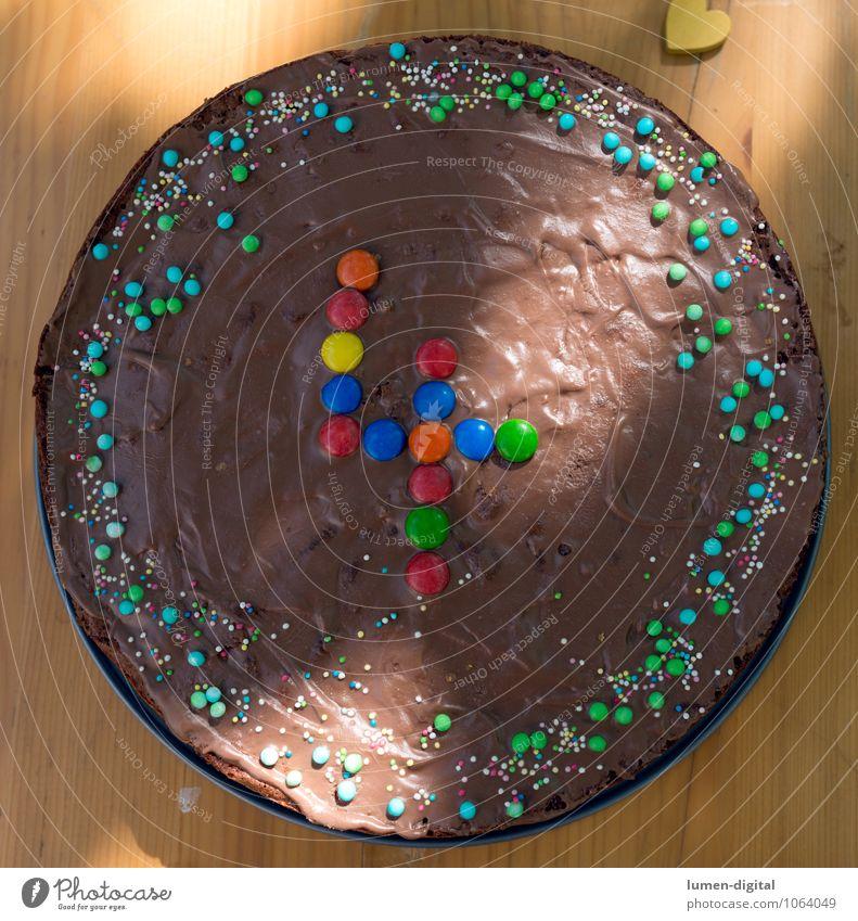 Geburtstagskuchen Kind Sommer Feste & Feiern braun Geburtstag Kindheit süß lecker Kuchen Geborgenheit Schokolade Kindererziehung Geburtstagstorte Kindergeburtstag verziert Streusel
