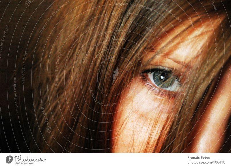 Eyes Frau schön grün blau Gesicht Auge Haare & Frisuren