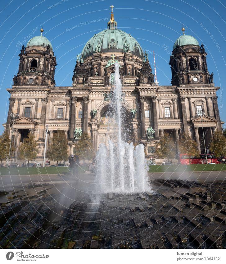 Berliner Dom Sommer Park Deutschland Stadt Sehenswürdigkeit Tower (Luftfahrt) alt groß Glaube Religion & Glaube Ferien & Urlaub & Reisen Europa Image Lustgarten