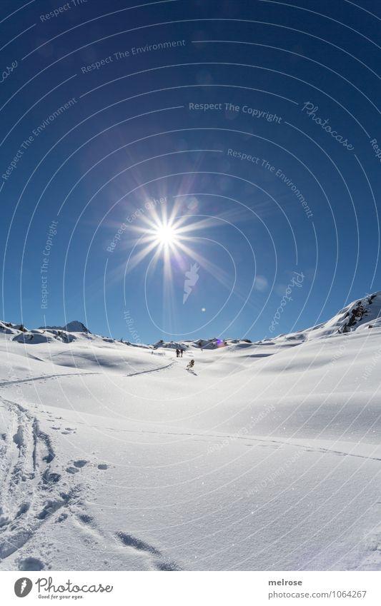 traumhaaaaft Ferien & Urlaub & Reisen blau weiß Erholung Landschaft ruhig Winter kalt Berge u. Gebirge Schnee Sport Felsen Freizeit & Hobby leuchten Idylle