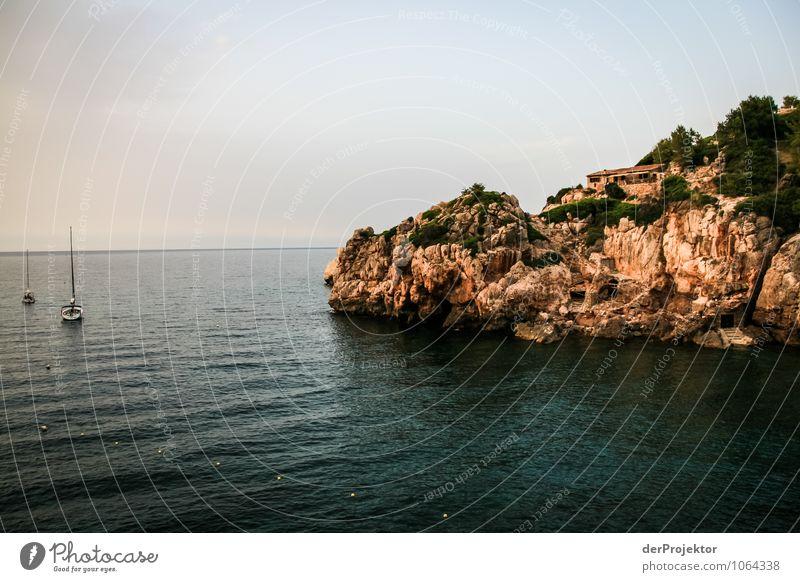 Mallorca von seiner schönsten Seite 55 - Bucht zum Ankern Natur Ferien & Urlaub & Reisen Pflanze Sommer Meer Landschaft Tier Strand Ferne Umwelt Gefühle Küste Freiheit Felsen Wellen Tourismus