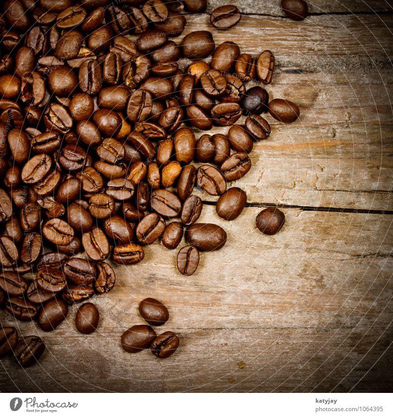 Kaffeebohnen Hintergrundbild Holz Lebensmittel frisch genießen Frühstück Café Holzbrett reizvoll aromatisch rustikal Espresso Bohnen Koffein Cappuccino