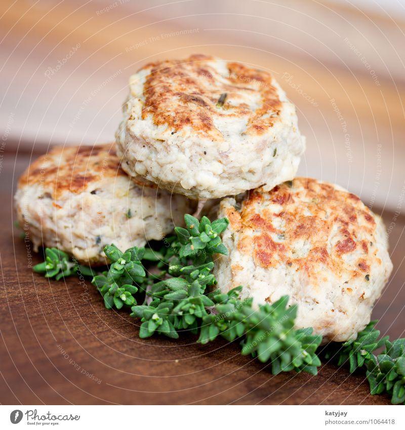 Frikadellen Lebensmittel Fleisch Fleischklösse hack Hackfleisch Abendessen Fastfood Essen frikadellen buletten Thymian Hamburger Schweinefleisch hackbraten