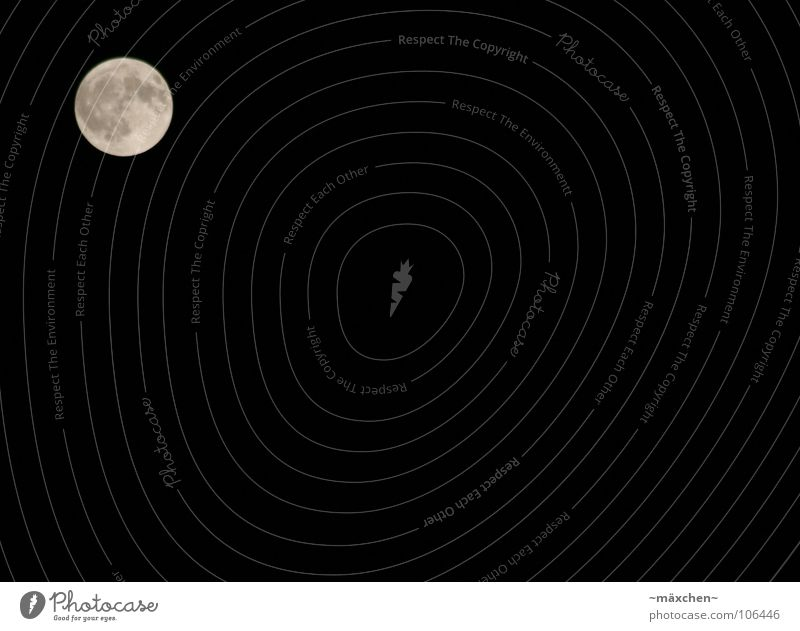 La luna Himmel weiß Sommer ruhig schwarz dunkel grau träumen schlafen Mond Himmelskörper & Weltall Vulkan Mondschein Vulkankrater