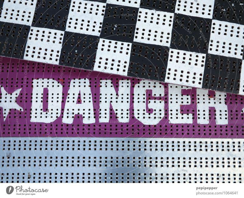 **DANGER** Abenteuer Oktoberfest Jahrmarkt Achterbahn Fahrgeschäfte Stahl Zeichen Schriftzeichen Schilder & Markierungen Hinweisschild Warnschild Linie Streifen