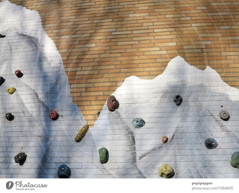 Nordwand Lifestyle Freizeit & Hobby Spielen Klettern Climbing Ferien & Urlaub & Reisen Abenteuer Haus Sport Kletterwand Mauer Wand Fassade Stein Zeichen