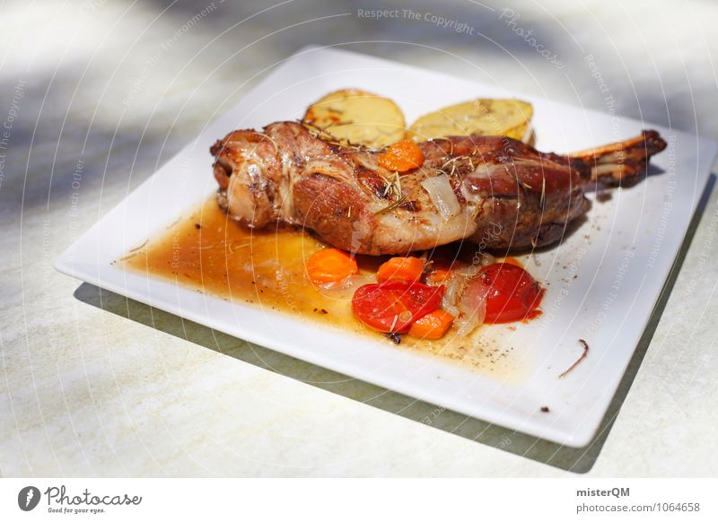 Spanish Food IV Lebensmittel Kunst Zufriedenheit ästhetisch lecker Teller Fleisch Mittagessen Kartoffeln Fleischgerichte Keule Fleischfresser