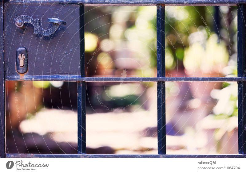 behind. Umwelt Natur ästhetisch verborgen geheimnisvoll Schlüsselloch Tür Türschloss Türspion Türknauf Türöffner Grundstück Grundstücksgrenze durchsichtig