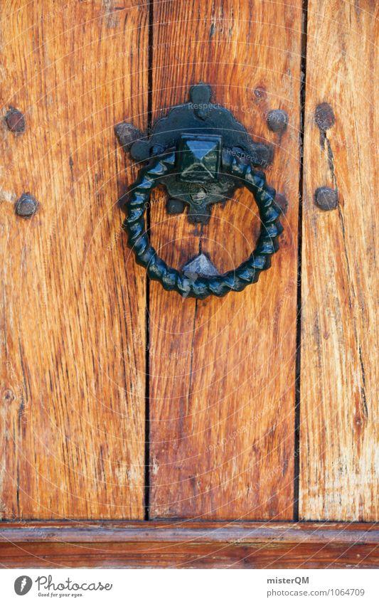 herein. Holz Kunst Tür ästhetisch Eingang Eingangstür Türschloss Eingangstor Türknauf Türöffner